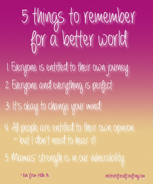 5 Things for a Better World