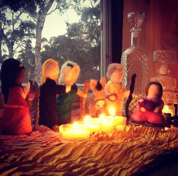 Goddess Inspired Advent is an audio story with photos to share with your family...